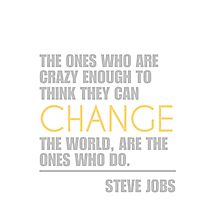 Change the world - Steve Jobs Photographic Print