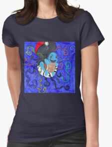 Rainbow Squirtle Womens Fitted T-Shirt