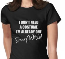 One Scary Witch - White Womens Fitted T-Shirt