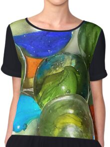 World's Marbles Chiffon Top