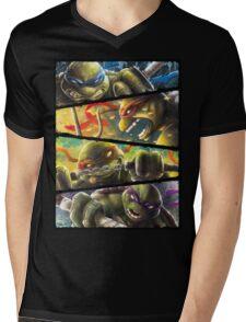 TMNT - Turtle Power Mens V-Neck T-Shirt