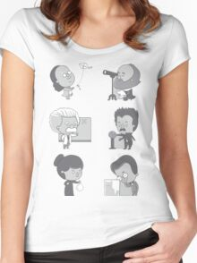 GOOD TIMES WITH SCIENCE Women's Fitted Scoop T-Shirt