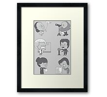 GOOD TIMES WITH SCIENCE Framed Print