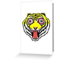Psychedelic Tiger Eyes Greeting Card