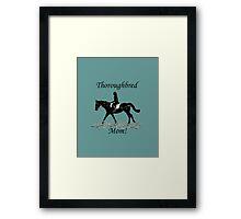 Cute Thoroughbred Mom Horse Design Framed Print
