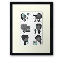 GOOD TIMES WITH SCIENCE TSHIRT Framed Print