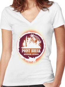 Go Get Wild Beach Women's Fitted V-Neck T-Shirt
