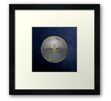 U.S. Army Cyber Corps - Branch Insignia Blue Velvet Framed Print