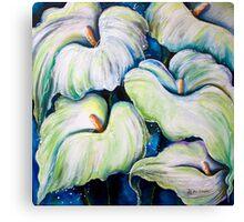 Arum Lilies Canvas Print