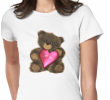 Valentine Teddy Bear Womens Fitted T-Shirt