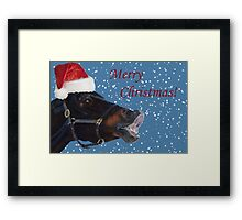 Funny Christmas Pony  Framed Print