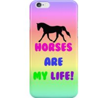 Colorful Horses Are My Life  iPhone Case/Skin