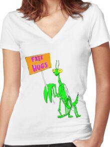 Mantis Women's Fitted V-Neck T-Shirt