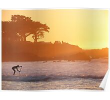 A Sunset Paddle Poster