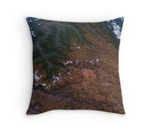 Machu Picchu and the Andes Mountains of Peru Satellite Image Throw Pillow