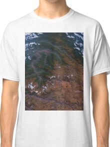 Machu Picchu and the Andes Mountains of Peru Satellite Image Classic T-Shirt
