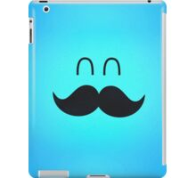 Funny Cute Mustache Face  iPad Case/Skin