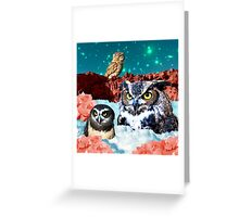 Kindly Owl Gods of the Red Mesa Greeting Card
