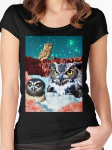 Kindly Owl Gods of the Red Mesa Women's Fitted Scoop T-Shirt