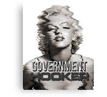 MARILYN MONROE GOVERNMENT HOOKER Canvas Print