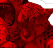 Red and Black Cheetah Sticker