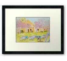Blue Cattle Framed Print