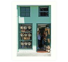 Cuban shopfront Art Print