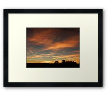 Out of an Orange Colored Sky Framed Print