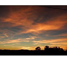 Out of an Orange Colored Sky Photographic Print