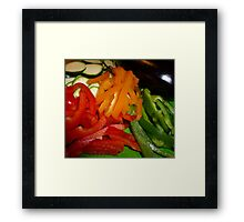 Mixed Peppers And Courgettes Framed Print