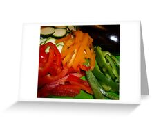 Mixed Peppers And Courgettes Greeting Card