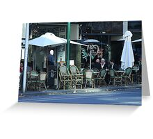 Late lunchers in Bourke Street Greeting Card