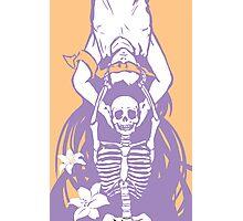orange purple pastel death 1 Photographic Print