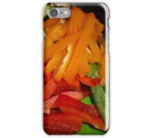 Mixed Peppers And Courgettes iPhone Case/Skin