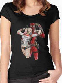 Harley Quinn & DP  Women's Fitted Scoop T-Shirt