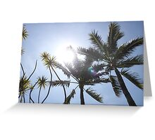 Palm Trees, CA Greeting Card