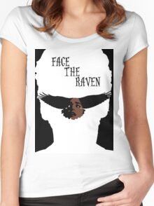 Face The Raven Women's Fitted Scoop T-Shirt