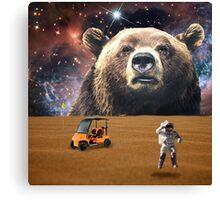 Enormous Bear Interrupts Charity Golf Tournament  Canvas Print