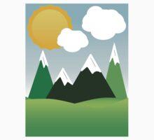 Sunny Mountain Sky Baby Tee