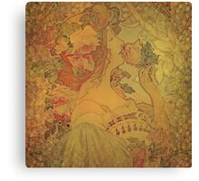 Upon Waking Up and Smelling the Roses Canvas Print