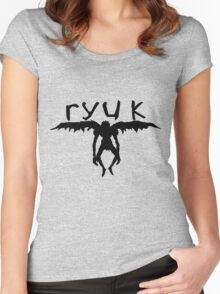 ryuk silhouette  Women's Fitted Scoop T-Shirt