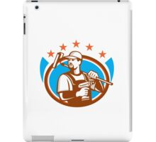 Handyman Cordless Drill Paintroller Oval Stars Retro iPad Case/Skin