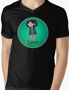 Nerd Vincent Mens V-Neck T-Shirt
