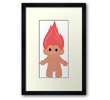 Pink Troll Framed Print