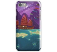 Junk Ship and Glow Sharks iPhone Case/Skin