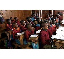 Kenyan Schoolroom  Photographic Print