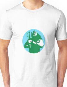 Triton Trident Circle Retro Unisex T-Shirt