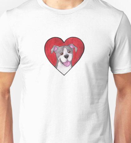 Pit Bull / Staffie Heart Unisex T-Shirt