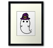witch hat ghost Framed Print