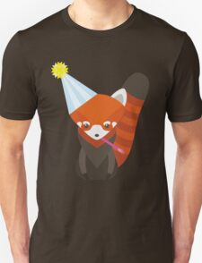 Party Hat Red Panda Vector Unisex T-Shirt
